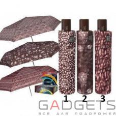 Зонт складной женский Perletti Technology Коричневый / Крохи (21574.3;0514)