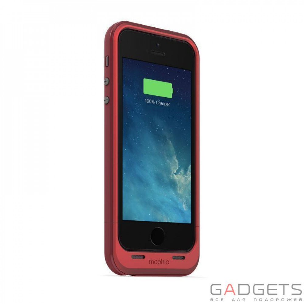 Фото Mophie Juice Pack Plus Case Red 2100 mAh for iPhone 5 / 5S (+2397-JPP-IP5-RED-I)