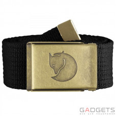 Ремень Fjallraven Canvas Brass Belt 4cm Black (77297.550)