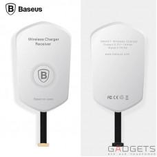 Адаптер для бездротової зарядки Apple iPhone 5/5s/SE/6/6s/6 Plus Baseus QI Білий