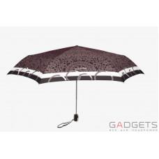 Зонт складной женский Maison Perletti Piatto Pizzo Черный / Золотистое кружево (16225.2;7669)