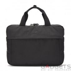 Сумка для ноутбука 13 дюймів, горизонтальна, антизлодій Pacsafe Intasafe slim brief, 5 ступенів захисту, чорна