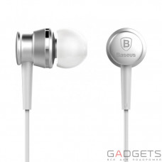 Навушники Baseus Lark Series Wired Earphones Silver
