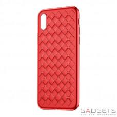 Чехол Baseus BV Weaving Case для iPhone X Red (WIAPIPHX-BV09)