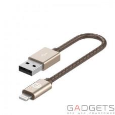Кабель для зарядки и синхронизации Lab.C Lightning Leather Cable A.L Champagne Gold (0.15 m) (LABC-510-GD)