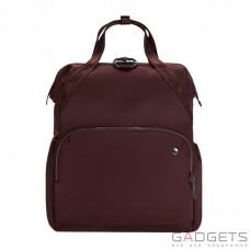 Женский рюкзак антивор Pacsafe Citysafe CX Backpack, 6 степеней защиты, бордовый