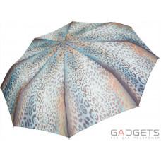 Зонт складной женский Perletti Chic Голубой / Шкура леопарда (21178;5010)