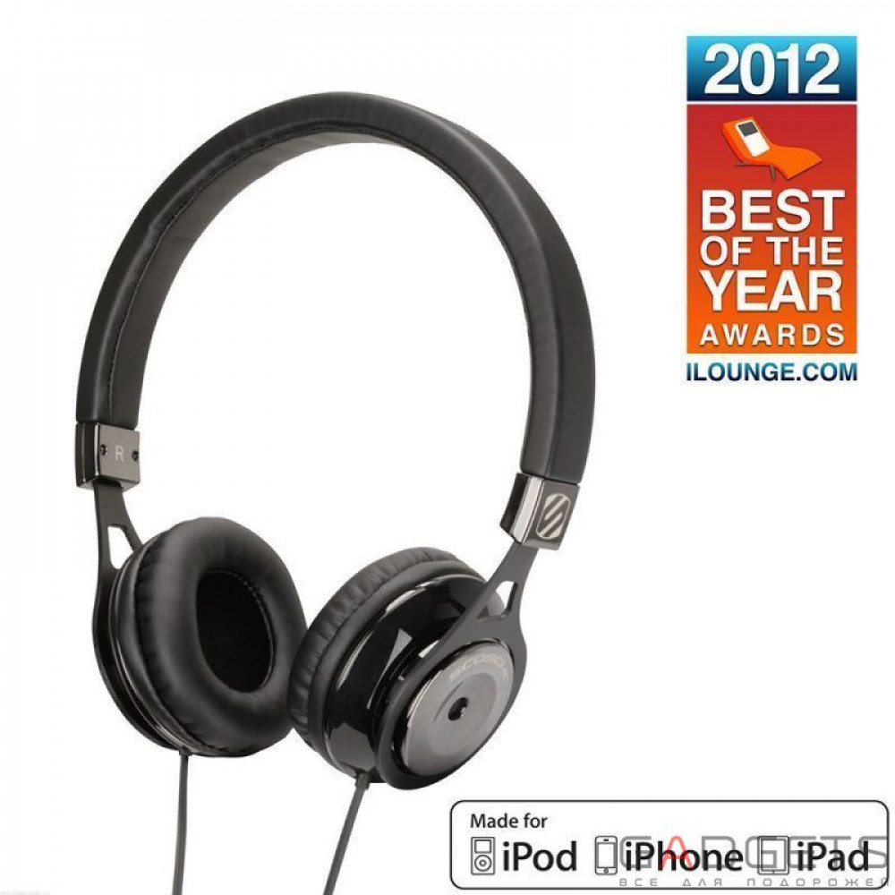 Фото Наушники Scosche Reference Grade On Ear Headphones with tapLINE III Control Technology (Dark) RH656MD