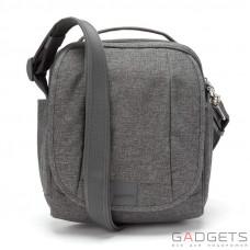 Сумка через плечо, вертикальная, антивор Pacsafe Metrosafe LS200, 6 степеней защиты, темно-серая