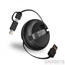 Кабель iWalk Cobra Retractable Data Cable Black (CSC001)