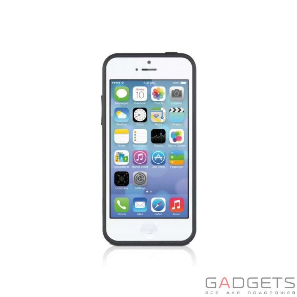 Фото Чехол Macally Protective Hard-shell Case with Stand for iPhone 5C (KSTANDP6-B)