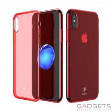 Чехол Baseus Simple Series Case Transparent Red для iPhone X (ARAPIPH8-B09)