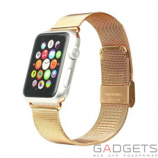 Ремешок iBacks Double-buckle Stainless Steel Watchband for Apple Watch (42mm) Rose Gold
