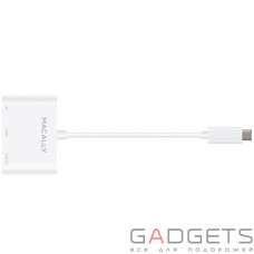Кабель для передачи данных Macally USB-C Hub & Adapters Series white (UCHDMI4K)