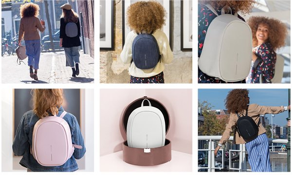 Рюкзак XD Design Bobby Elle Anti-Theft backpack, Anthracite (P705.222)