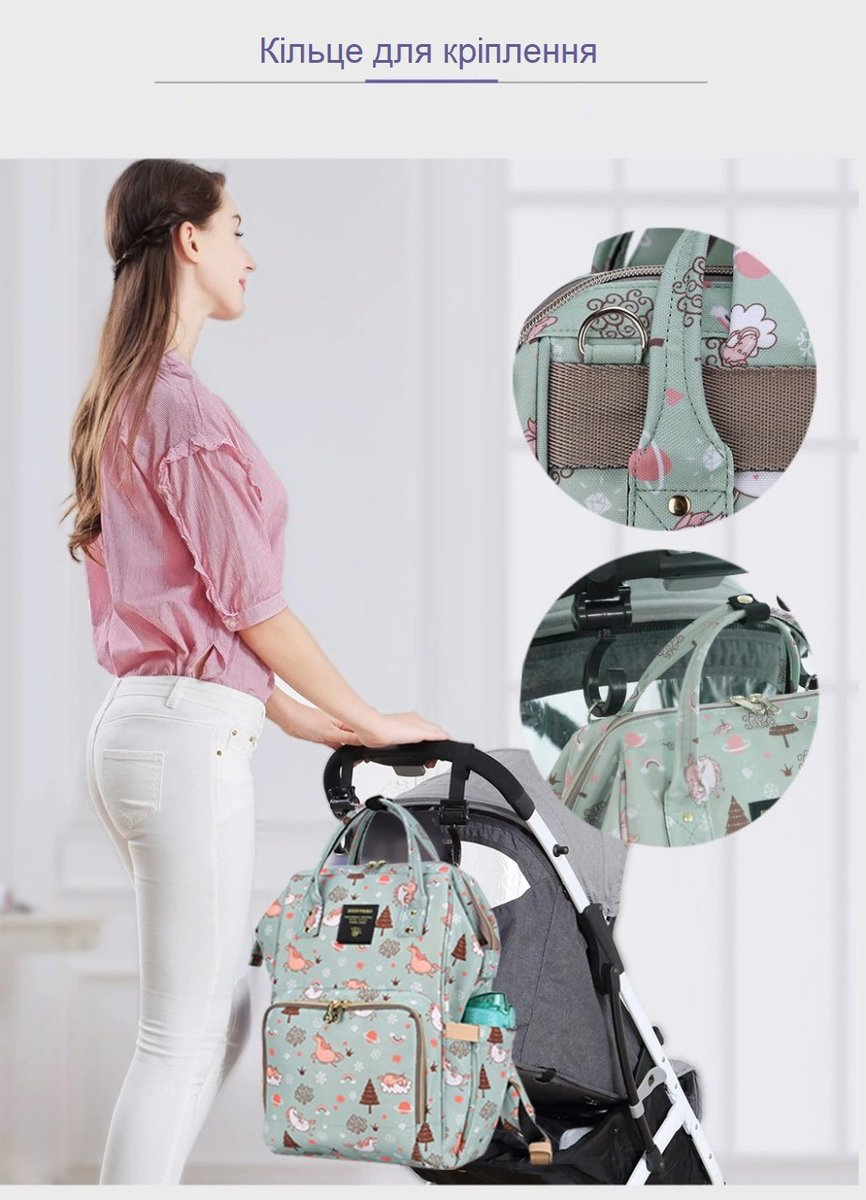 Рюкзак для мамы Sunveno Diaper Bag Green Dream Sky